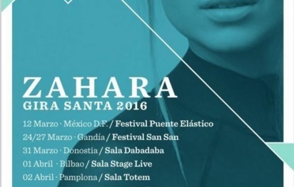 Zahara actuará en Palma el próximo 9 de abril