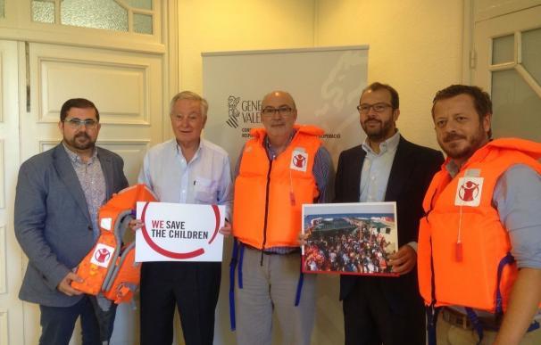 El Consell colaborará con Save The Children en el rescate y asistencia de personas refugiadas en el Mediterráneo