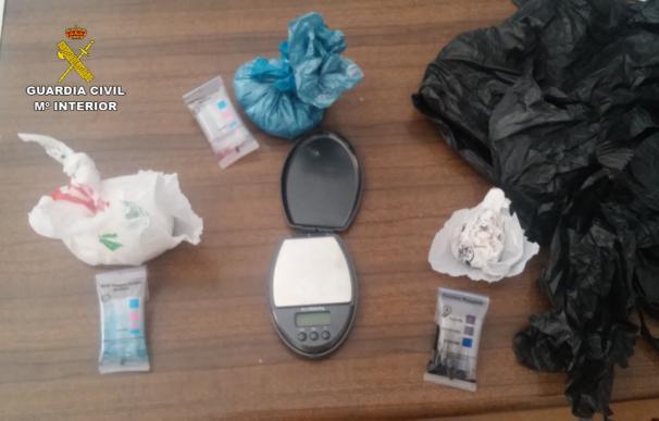Detenidos dos varones en Coria (Cáceres) como presuntos autores de un delito de tráfico de drogas