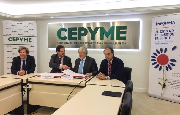 Cepyme e Informa D&B firman un acuerdo de colaboración para la realización de estudios