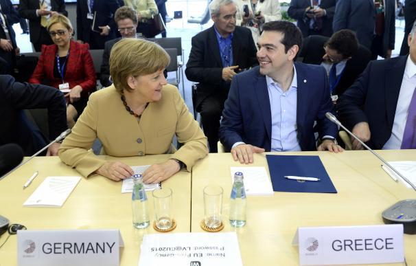 Angela Merkel, canciller alemana, y Alexis Tsipras, primer ministro griego