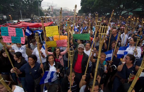Manifestaciones en Honduras pidiendo la dimisión del presidente, Juan Orlando Hernández