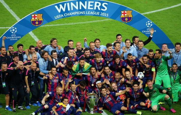 La celebración del Barcelona, en imágenes.