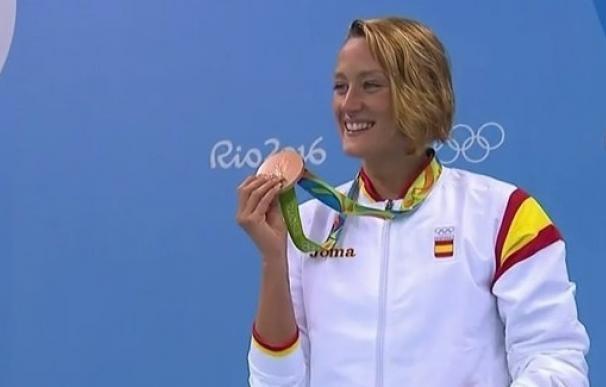 Mireia Belmonte logra su tercera medalla olímpica, la séptima en la historia de la natación española