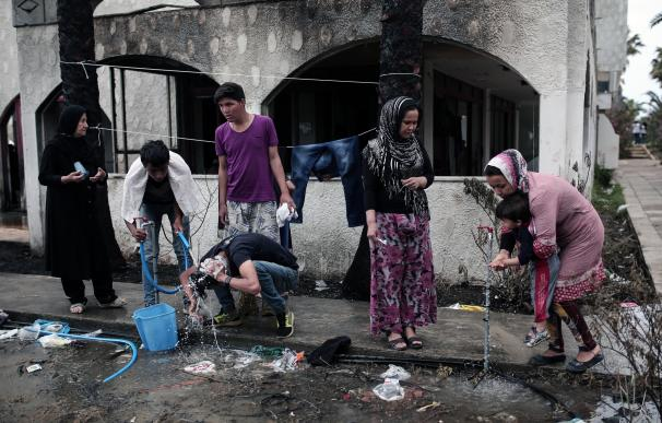 Refugiados afganos en la isla griega de Kos