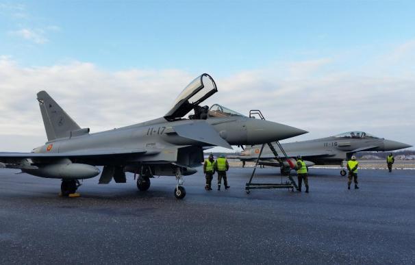 Los cazas españoles han interceptado más de una decena de aviones rusos en sus cuatro meses de misión en el Báltico