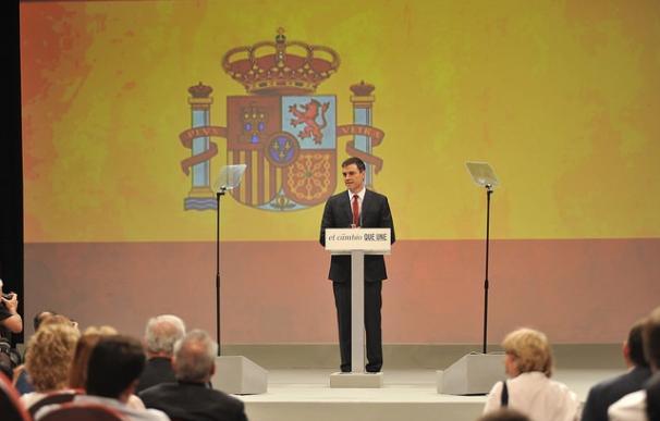 """Sánchez dice que la campaña será """"más España"""" e ironiza con que Rajoy le llame radical: """"No tengo pinta de bolchevique"""""""