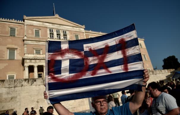 Manifestaciones en Grecia a favor del 'no' en el referéndum