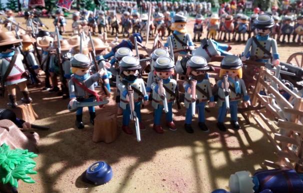 El Mercado del Juguete de Madrid rinde homenaje a la serie de televisión 'Norte y Sur' con un diorama de Playmobil