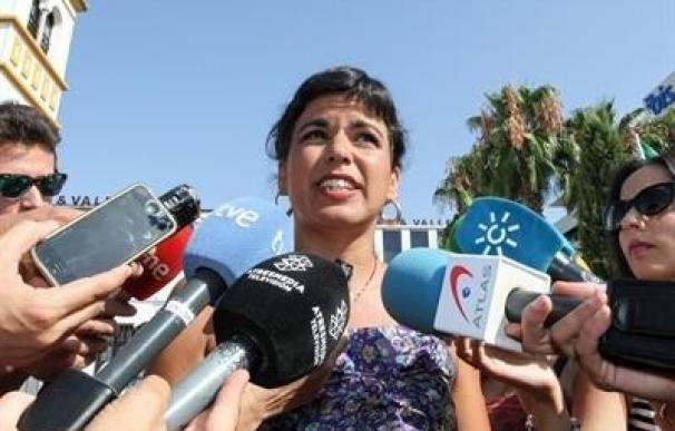 Teresa Rodríguez (Podemos) pide a Susana Díaz no atender el posible pacto de PP-A y C's para los presupuestos