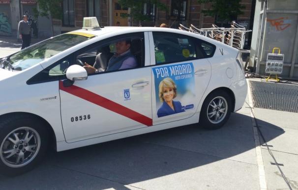 """La Federación del Taxi critica la publicidad electoral en los taxis porque puede """"dañar la imagen del colectivo"""""""