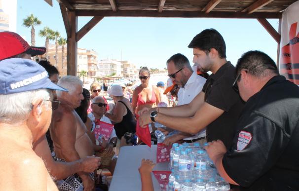 Julio se cierra en las playas de Los Alcázares con casi 1.900 atenciones y ningún fallecido