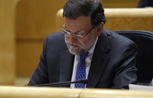 Rajoy, en una sesión de control en el Senado.
