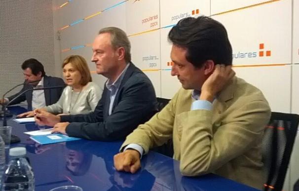 El presidente de la Generalitat en funciones y del PPCV, Alberto Fabra, esta tarde.