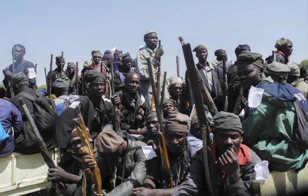 Guerrilleros del grupo islamista Boko Haram