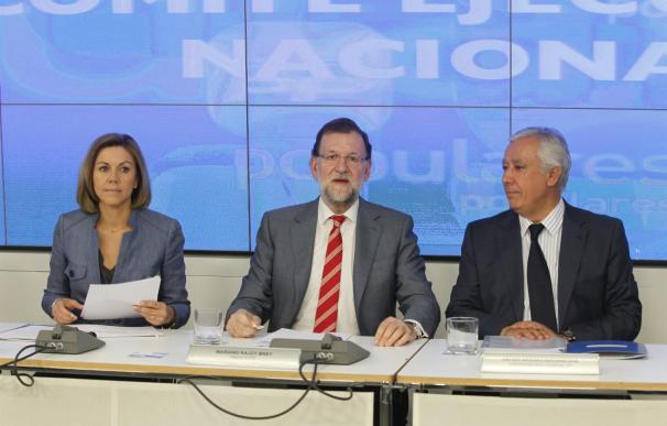 El presidente del Gobierno, Mariano Rajoy, en la reunión de su Ejecutiva.