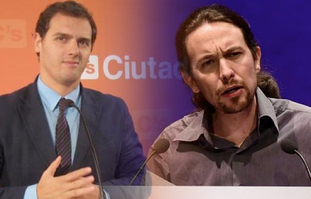Los líderes de Ciudadanos y Podemos, Albert Rivera y Pablo Iglesias.