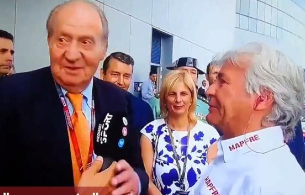 El Rey presenció en directo el GP de Jerez de motociclismo