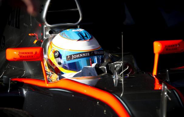 Alonso, concentrado