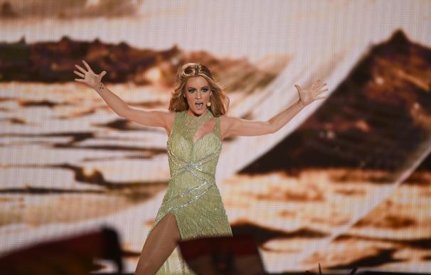 Edurne emociona en Eurovisión