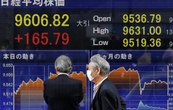 El Nikkei sube 133,15 puntos, el 1,39 por ciento, hasta 9.691,84 enteros