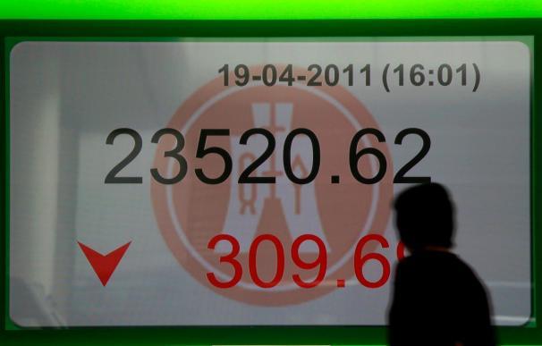 El Hang Seng cerró con un descenso del 0,48 por ciento, hasta los 23.982,84 puntos