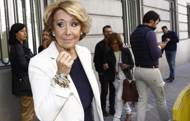 La presidenta del PP de Madrid y candidata a la Alcaldía, Esperanza Aguirre.