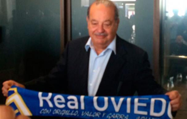 Llegó a Oviedo para presenciar el partido contra el Cádiz.