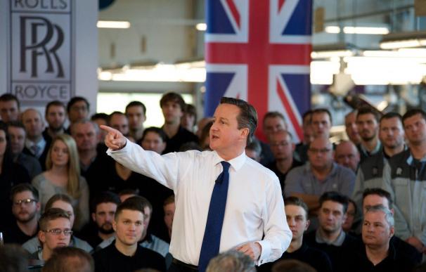 El primer ministro británico, David Cameron, en campaña.