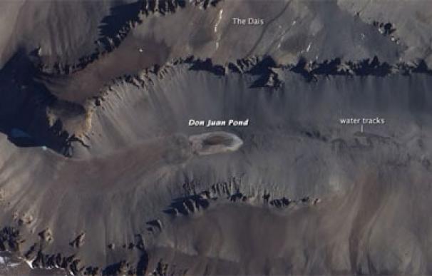 El lago más salado del mundo se encuentra en la Antártida