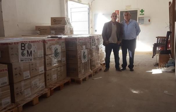 La Asociación Progresistas de España recauda 125.000 kilos de medicamentos para los campamentos de refugiados de Grecia