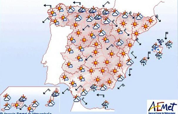 Rachas de viento muy fuerte en Pirineos, valle del Ebro, Ampurdán y Baleares