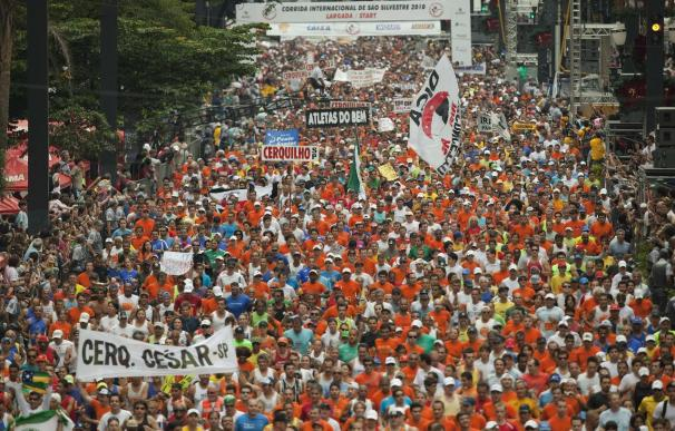 La San Silvestre madrileña ha superado en inscripciones a la de Sao Paulo