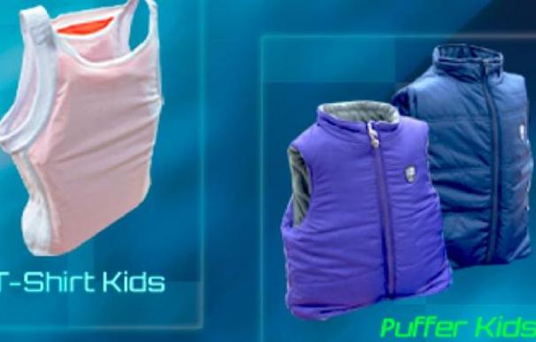 Un colombiano comercializa ropa antibalas para niños