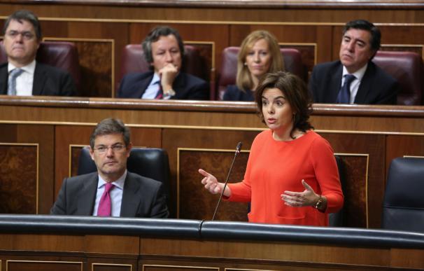 Santamaría no se pronuncia sobre si respalda a Moix y subraya que el Gobierno respeta la autonomía del Ministerio Fiscal