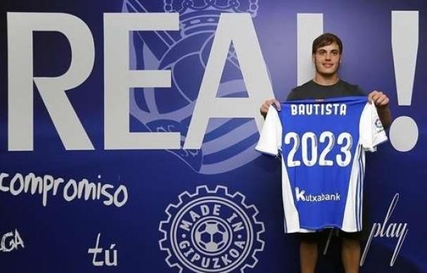 La Real Sociedad renueva al delantero canterano Jon Bautista hasta 2023