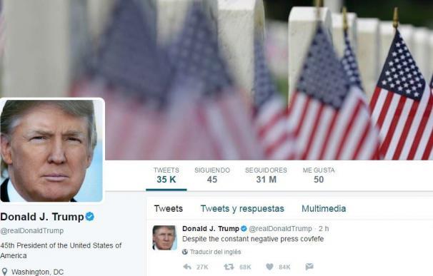 Un tuit con errata e incompleto de Trump a medianoche desata burlas en la red