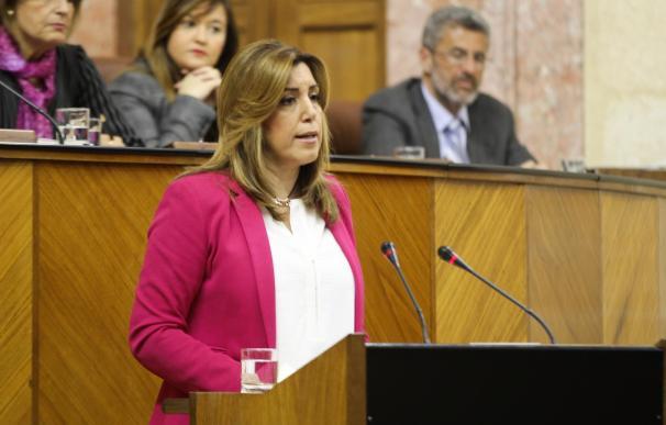 La comparecencia de Susana Díaz sobre la situación política de Andalucía abrirá el próximo Pleno del Parlamento