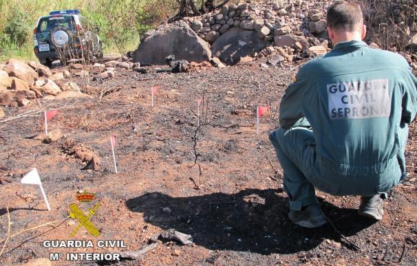 Investigado un hombre por el incendio de Azuébar que afectó a la Sierra de Espadán