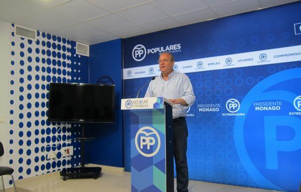 """El PP impulsará en los ayuntamientos de la provincia de Badajoz mociones para exigir a la Junta obras """"comprometidas"""""""