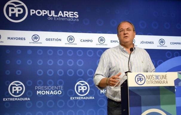 """Monago dice que con Vara presente en cumbres hispano-lusas """"no se hizo prácticamente nada"""" en Alta Velocidad extremeña"""