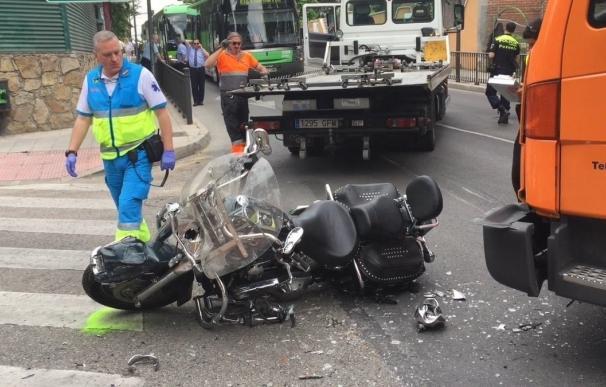 Muere el motorista de 67 años que ha colisionado con un camión en Pozuelo