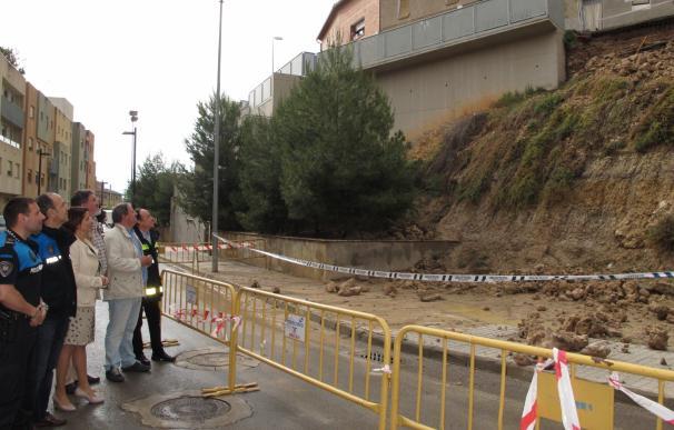 Restablecido el tráfico en todas calles de Teruel afectadas por la lluvia, salvo en Cuevas del Siete