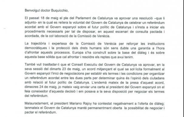 """La Comisión de Venecia ha recibido la carta de Puigdemont y """"contestará a su debido tiempo"""""""
