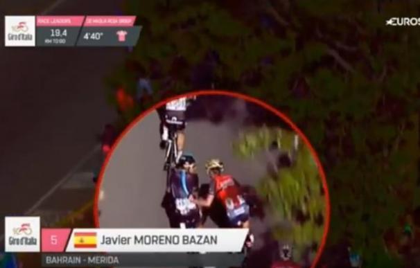 Multa de 182 euros y expulsión del Giro para Javi Moreno por agresión