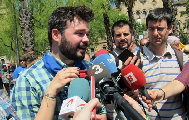 Rufián (ERC) cree que el Plan Hidrológico del PP es una agresión de España hacia Cataluña