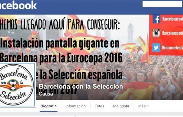 La página de Facebook de 'Barcelona con la Selección'.