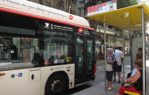 Autobuses de Barcelona harán huelga hasta el viernes con servicios al 40% en horas punta
