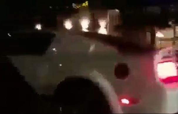 Una secuencia del vídeo, instantes antes del accidente.