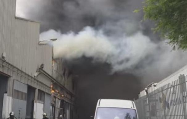 Una imagen del incendio en Alcalá de Henares.